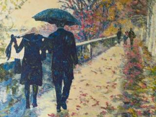 Autumn love. 2015, A. Lefbard, 105*70 cm, oil on canvas