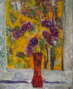 Autumn window, A.Lefbard, 40*60 cm, 2014, oil on canvas
