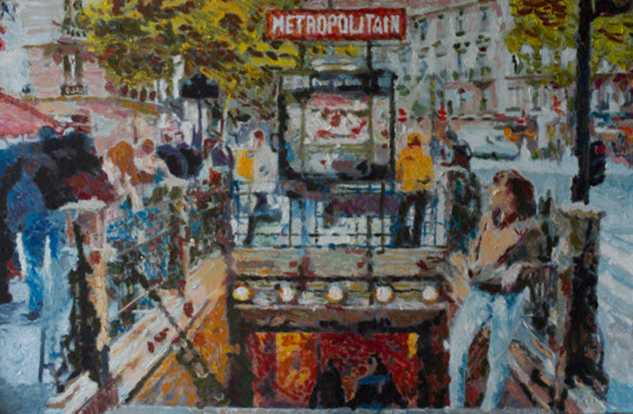 Metropolitain, Paris, A. Lefbard, 90*60 cm, 2013, oil on canvas