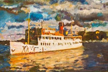 Sea Cruise, A. Lefbard, 90x60 сm, 2013, oil on canvas