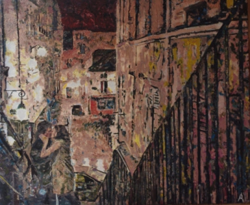 Romantic evening, 85x70cm, A.Lefbard, 2015, oil on canvas