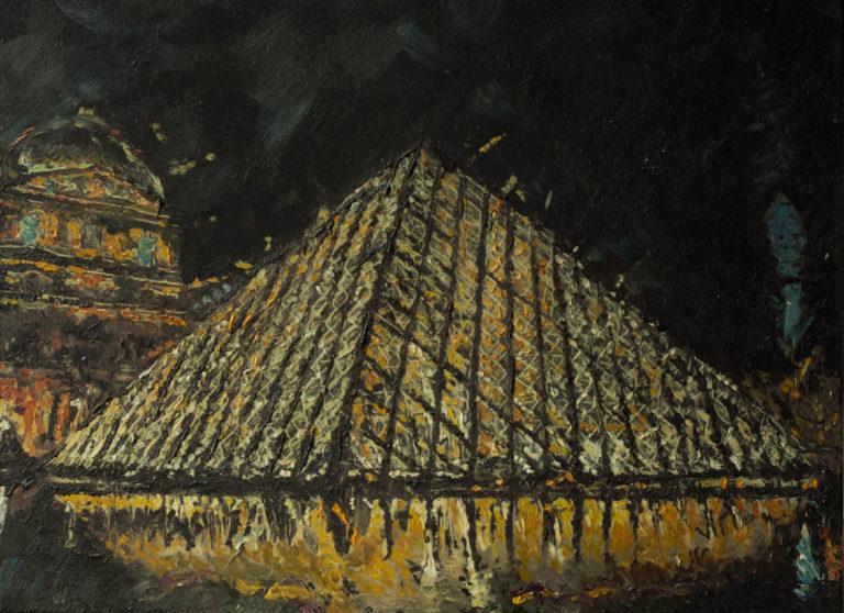 Pyramide du Louvre, A.Lefbard, 75*50 сm, 2014