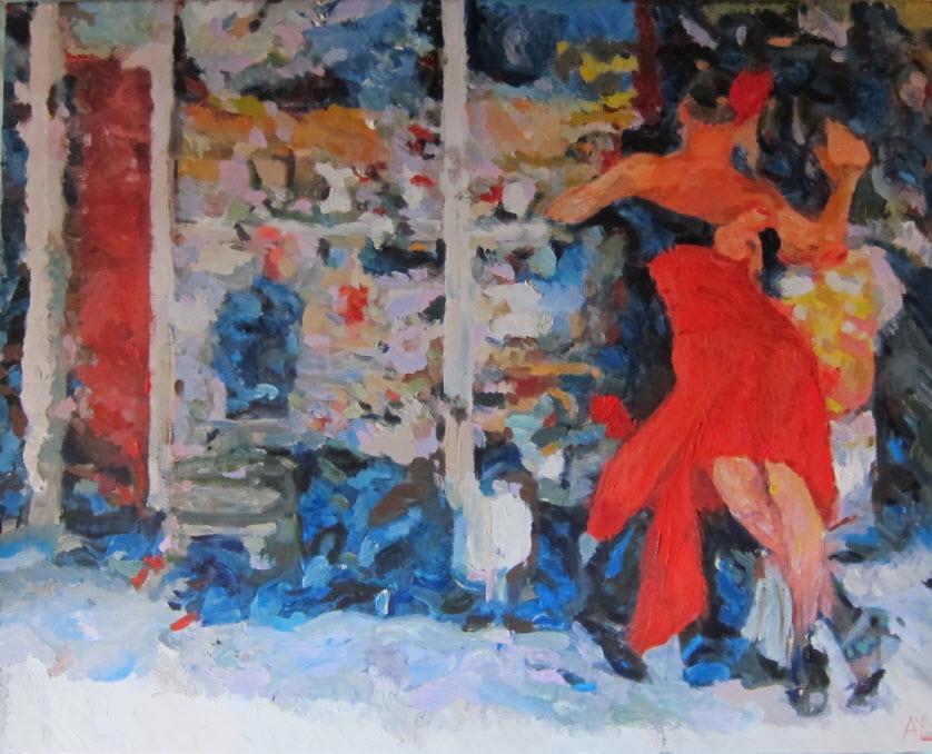 Street tango, 60*50 cm, 2015, A.Lefbard