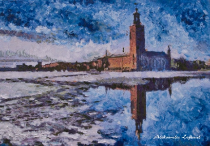 Winter Stockholm, A. Lefbard, 2012, , 86x60 сm