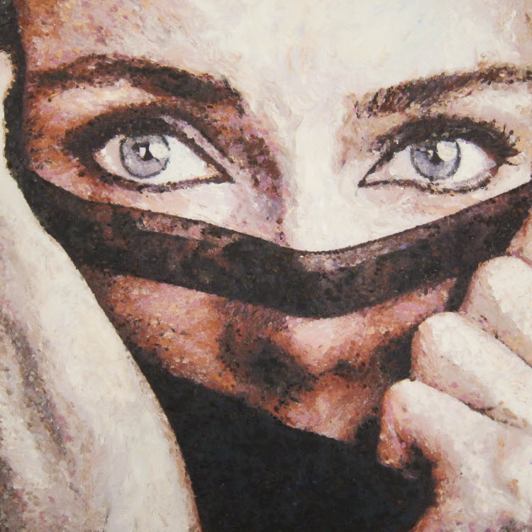 Beautiful eyes, A.Lefbard, 50*50 cm, 2015, oil on canvas
