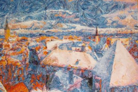 Winter Tallinn, A. Lefbard, 80x60 сm, 2015, oil on canvas